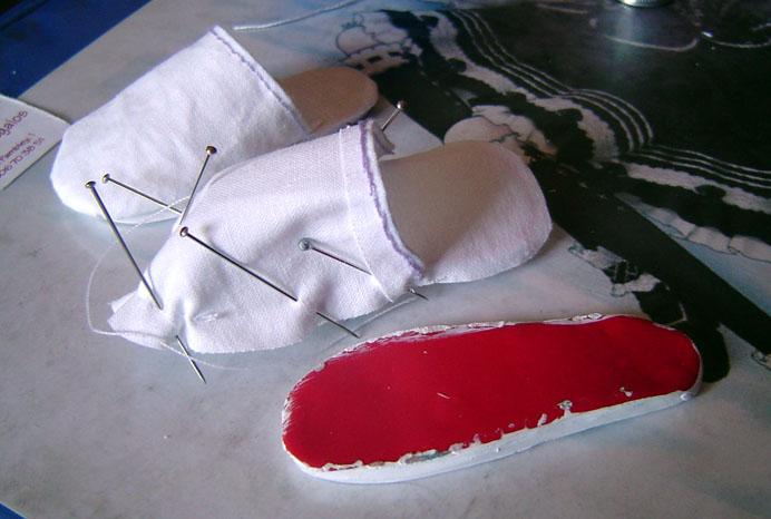 Zapatillas en proceso