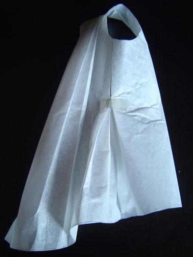 Media bata - prueba en papel de seda