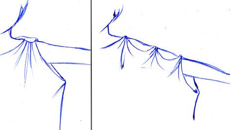 Dos formas de sujetar el vestido