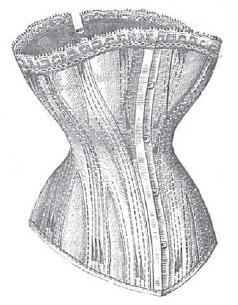 Modelo de corsé de La Moda Elegante 1878